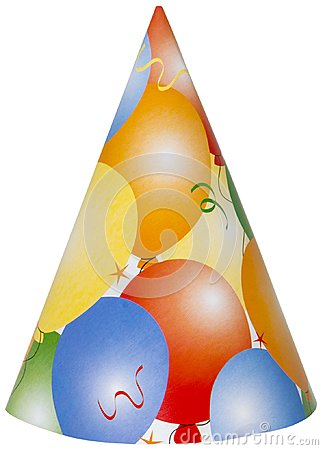 Happy Birthday Party Hat Isolated, PNG