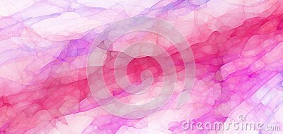 Pretty purple and pink marbled glassy texture design with abstract watercolor style splashes and blotches in soft abstract backgro