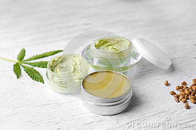 Cosmetics with hemp extract