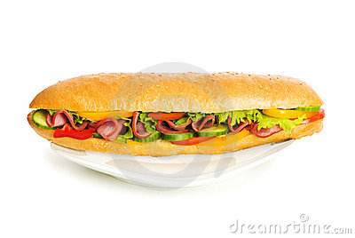 Long sandwich isolated