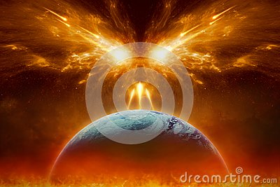 Judgment day, end of world, complete destruction of planet Earth