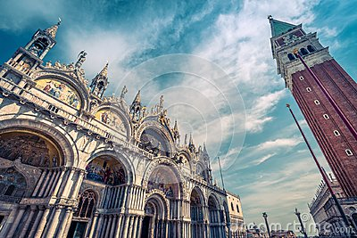 Saint Mark`s Square in Venice, Italy