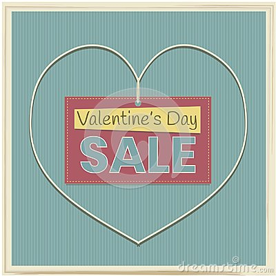 Sale banner to Valentine`s Day