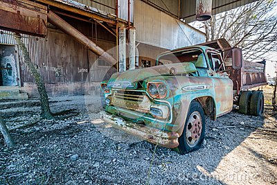Old Chevy Truck Located at the Old Crawford Mill in Walburg Texas