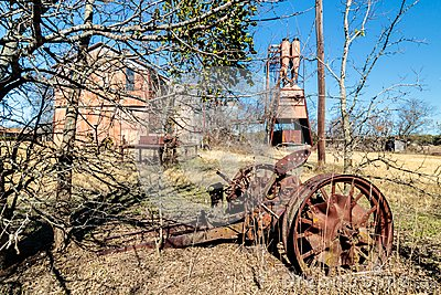 Antique Tractor Parts at the Old Crawford Mill in Walburg Texas