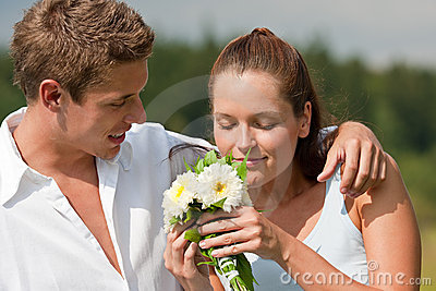 Summer - Romantic portrait of young couple