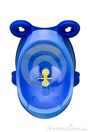 Funny baby urinal for boys. Housebreaking. To pee standing up.