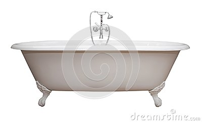 Antique Claw Foot Tub Isolated copy