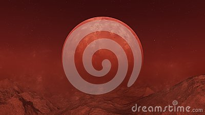 3d rendered Space Art: Red Alien Planet