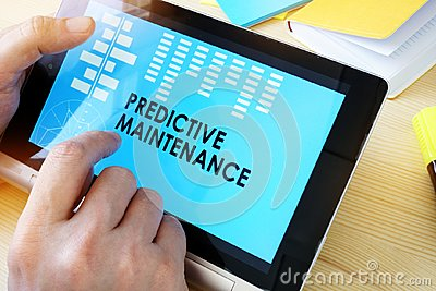 Tablet with title Predictive Maintenance.