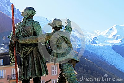 Mont Blanc summit First Ascent Chamonix monument Mountain Conquest history