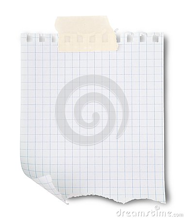 Blank sheet of paper with paperclip on