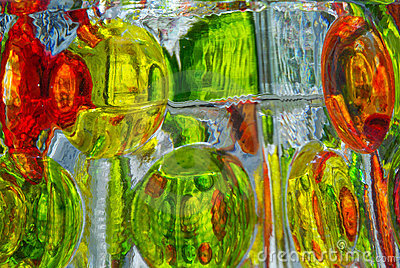 Colorful Glass Reflections