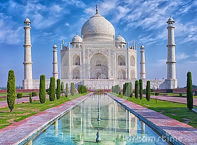 stock image of taj mahal in agra, india