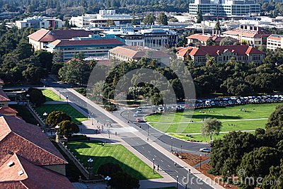 Stanford Oval from Above