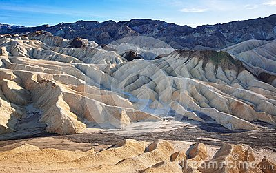 Eroded Geology of Death Valley Zabriskie Point
