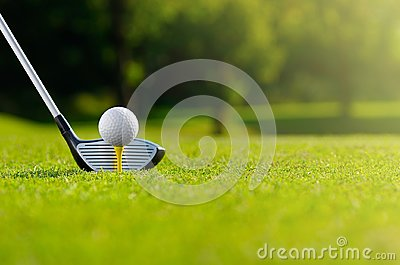 stock image of let`s golf today