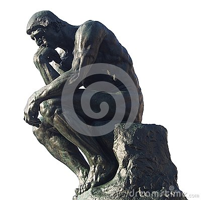 Man thinking - The thinker by Rodin