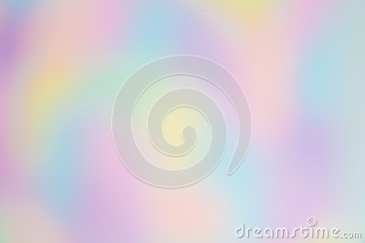 Blurred and Pretty Rainbow or Multi Colored Background with Organic, Free-formed Shapes.