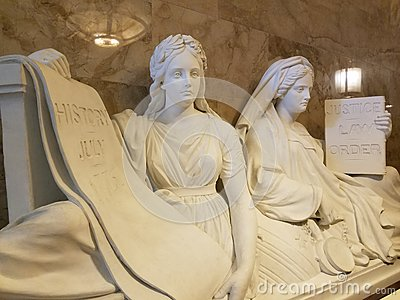 Justice and History Sculpture