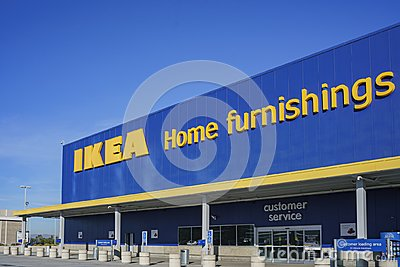 Exterior view of the famous IKEA furniture stores