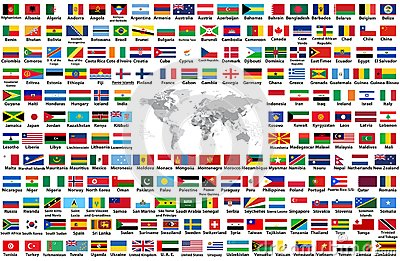 Vector Set Of All World Flags Arranged In Alphabetical Order