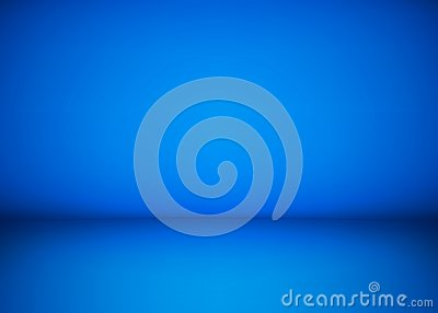 Abstract blue studio workshop background. Template of room interior, floor and wall. Photography workshop space. Vector