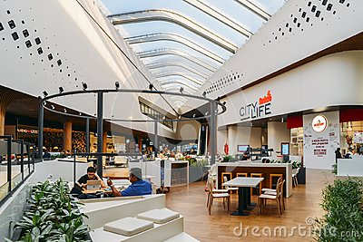 CityLife is a new modern shopping centre in Milan inaugurated in Dec 2017 - food court