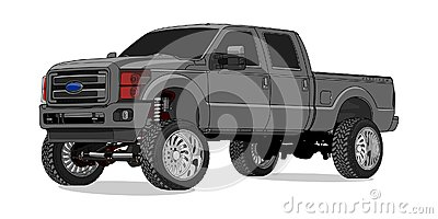 Ford F250 Super Duty in Vector