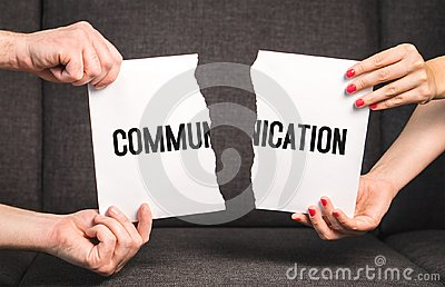 Communication problem in relationship.