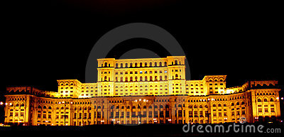 Bucharest, Romania- People House by night