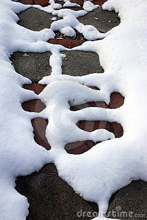 Abstract snow pattern