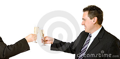 Toast To The New Business Deal
