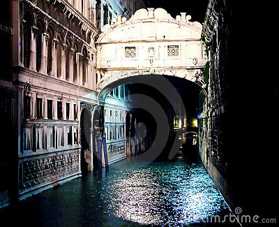 Ponte dei Sospiri by night
