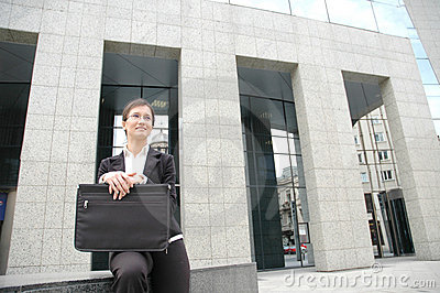 Woman in a front of corporate building 2