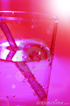 Red glass with water