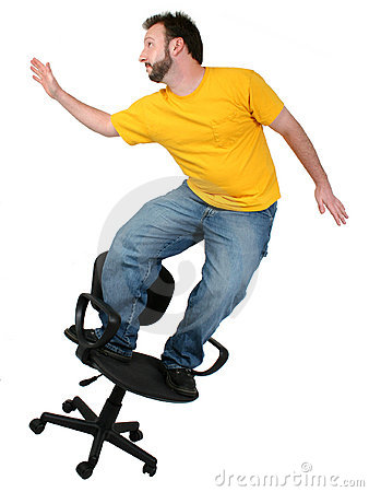 Casual Friday 30 Year Old Man Chair Surfing