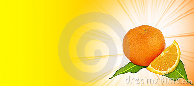 Orange - yellow background