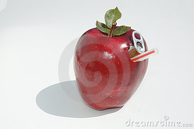 Apple and straw
