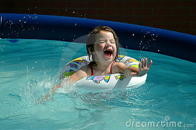 Children-Little Girl Splashing