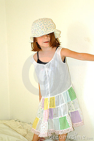 Children-Little Girl Silly Dress