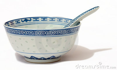 Chinese Bowl and Spoon