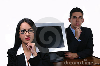 Business team  woman and man