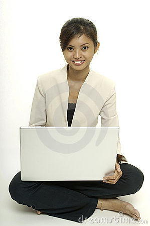 With Laptop