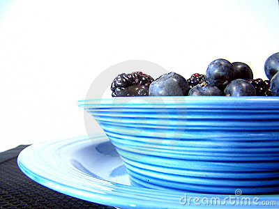 Bowl of black and blue