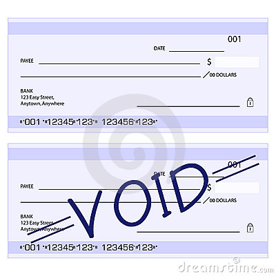 Blank generic cheques