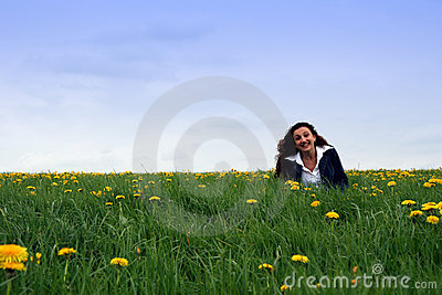 Happy in the meadow