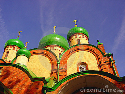 Domes of an russian abbey