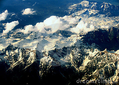 Carpathians Mountains from the plane