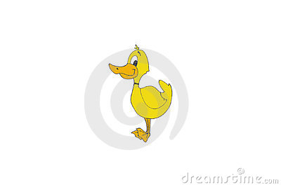 Yellow cartoon duck